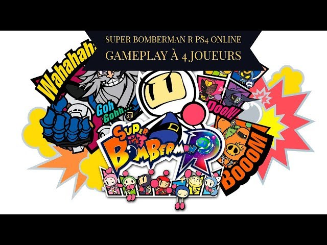 Super Bomberman R PS4 online Gameplay à 4