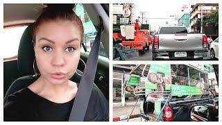 Vairavimo Pamokos Ir Sunkus Vairavimas Tailande.