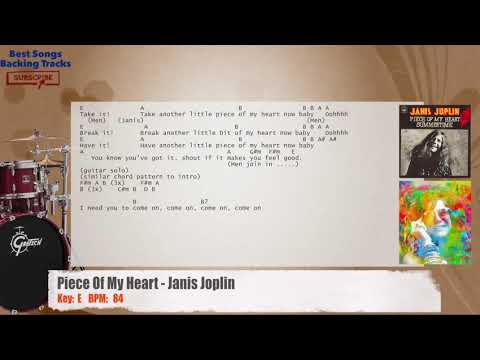 Piece Of My Heart - Janis Joplin Drums Backing Track with chords and lyrics