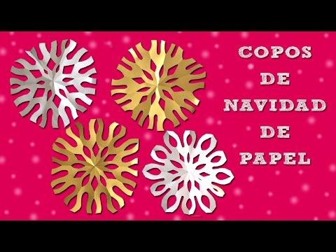 Copo de nieve de papel I Manualidades de navidad