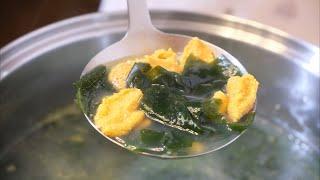 성게미역국 끓이기 / Sea Urchin Seaweed…