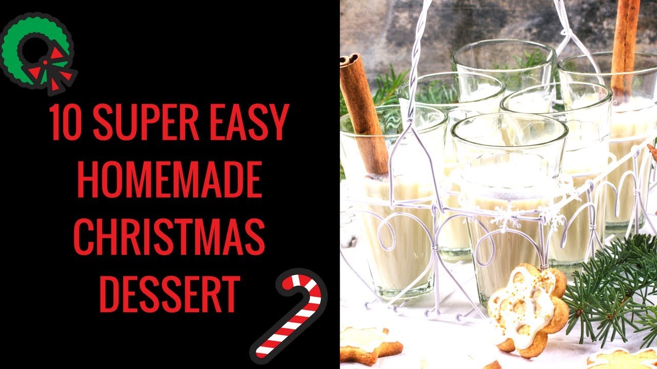 10 Easy Christmas Desserts Recipes Quick And Easy Christmas Dessert Recipes Youtube