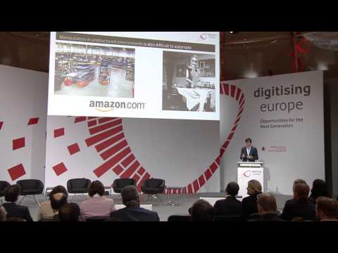 "Michael A. Osborne (Oxford University) at the ""digitising europe"" summit in Berlin"