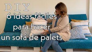 DIY 6 IDEAS FÁCILES para hacer un sofa de palets