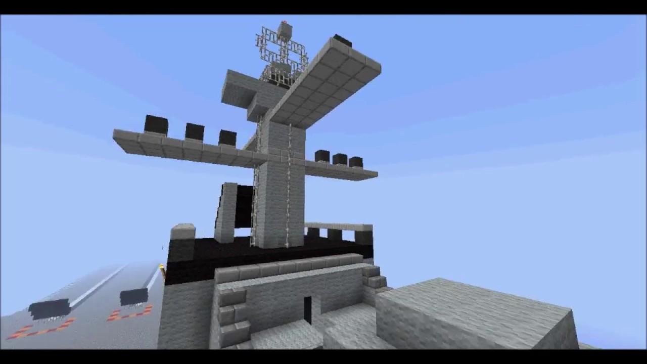 Minecraft porte avion uss kitty hawk youtube for Porte and minecraft