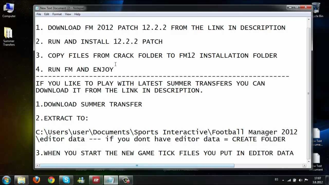Football manager 2012 patch 12. 2. 0 | fm scout.