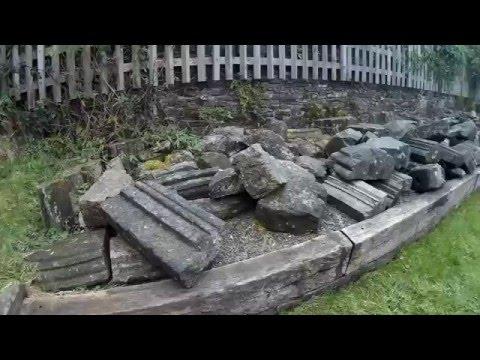 Launceston medieval Priory ruins, Cornwall, UK