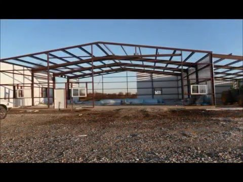 All Steel Building System Erection
