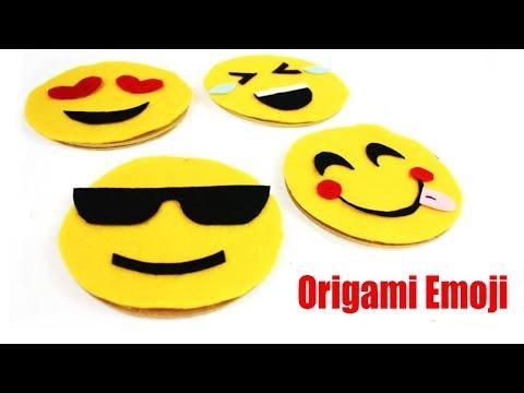 Origami Emoji  : How To Make Emoji Corner Bookmark - Emoji Crafts With Paper