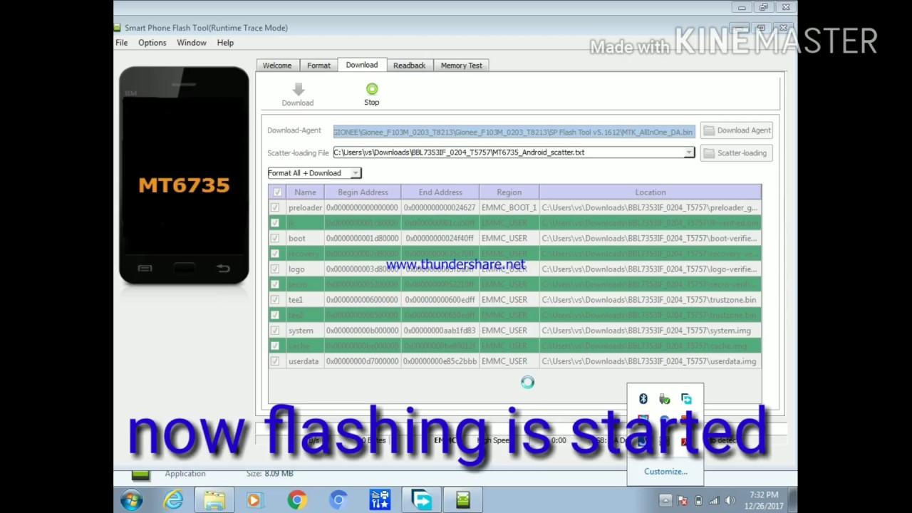 Gionee p5l flash tool