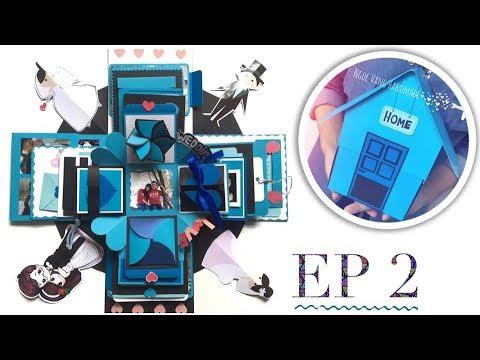 HƯỚNG DẪN LÀM LOVE BOX NGÔI NHÀ (Phần 2)- Exploding Box Tutorial Ep.2 – NGOC VANG Handmade