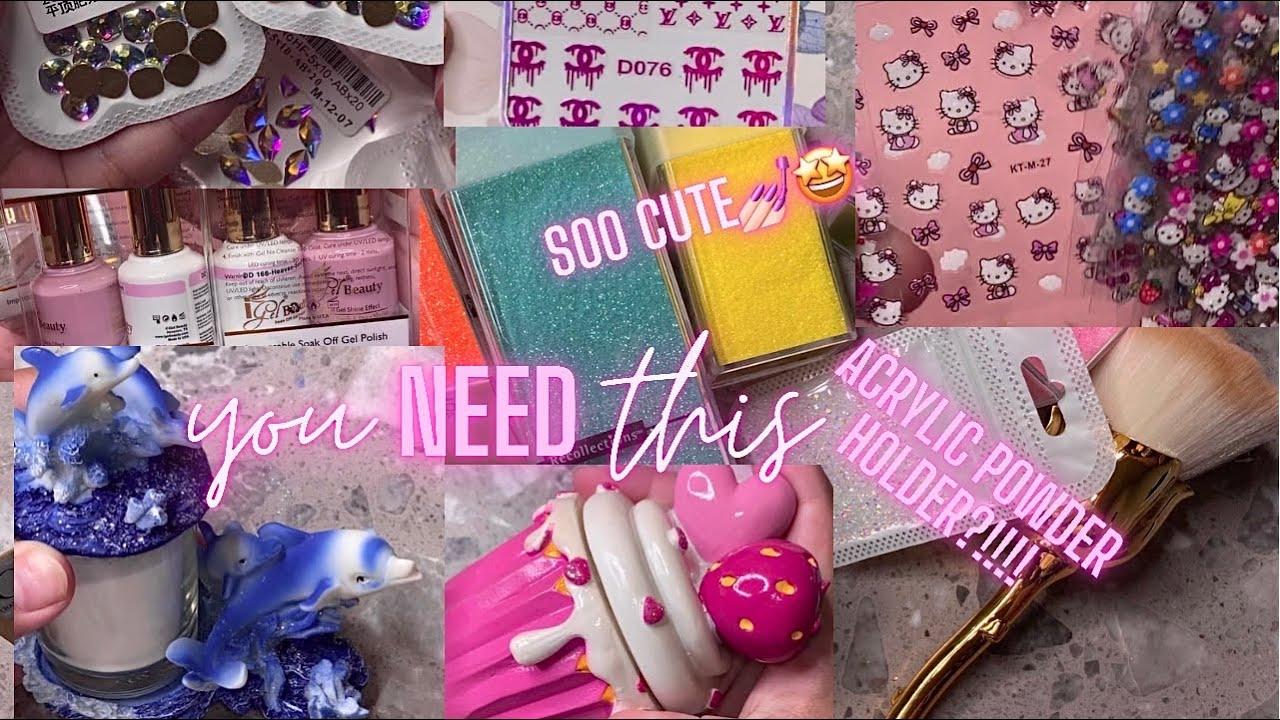 Cute Nail art supply haul   amazon nail haul   CHEAPEST nail art supplies   must have nail haul