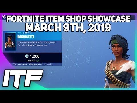 Fortnite Item Shop *NEW* BANDOLETTE SKIN! [March 9th, 2019] (Fortnite Battle Royale) thumbnail