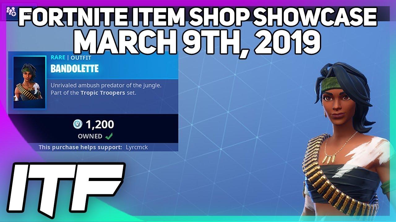 Fortnite Item Shop New Bandolette Skin March 9th 2019