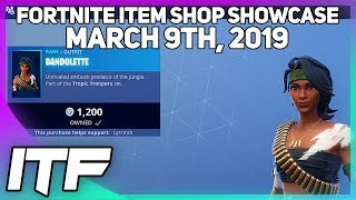 Fortnite Item Shop *NEW* BANDOLETTE SKIN! [March 9th, 2019] (Fortnite Battle Royale)