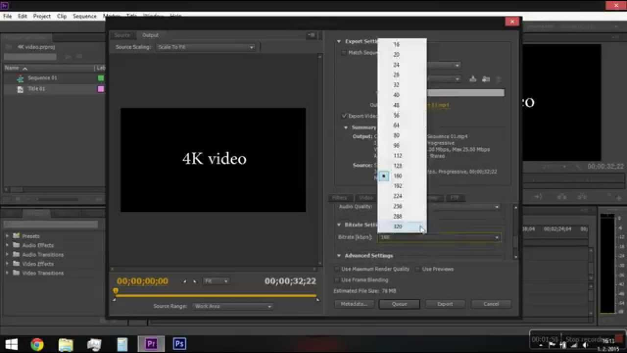 adobe premiere pro cs6 4k video sequence and render settings youtube. Black Bedroom Furniture Sets. Home Design Ideas