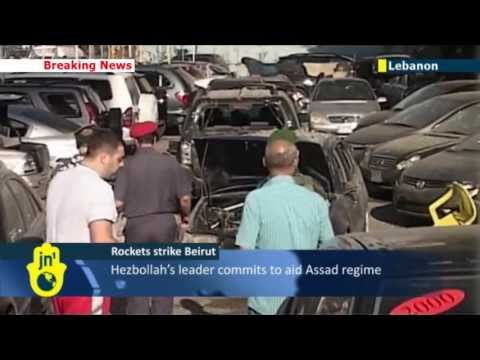 Lebanon being dragged into Syrian conflict: two rockets hit Hezbollah district in Beirut