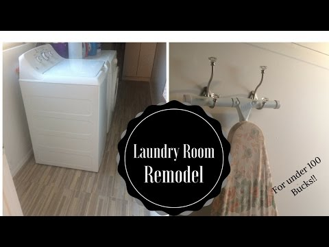 Laundry Room Remodel for under $100
