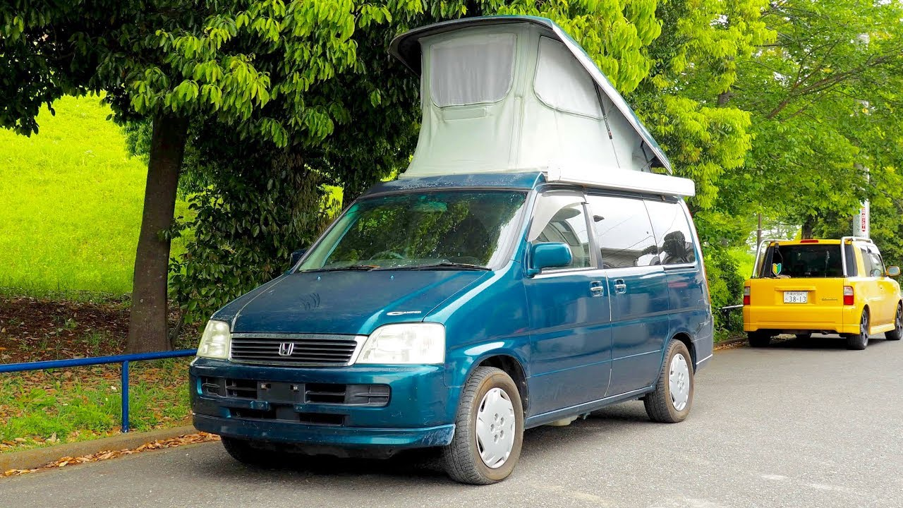 b41efe1e85 1999 Honda Stepwagon Camper Pop Top (Canada Import) Japan Auction Purchase  Review