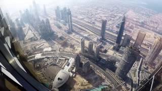 Burj Khalifa Fireworks At the top