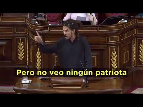 Alberto Rodríguez demostrando en el Congreso lo que realmente significa ser patriota.
