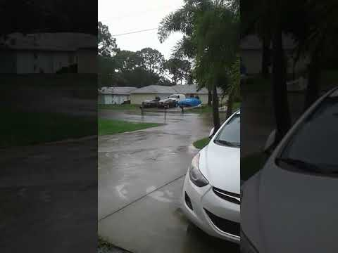 Flooding in Rockledge Florida before the storm even started