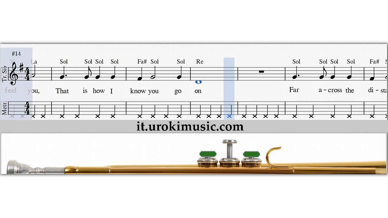 Popolare Lezioni di Tromba - My Heart Will Go On Titanic Spartiti Tromba  AA46