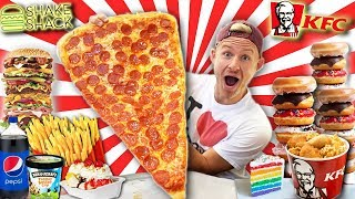 I ATE EVERYTHING I WANTED FOR A DAY! (ULTIMATE 25,000 CALORIE CHEAT DAY)
