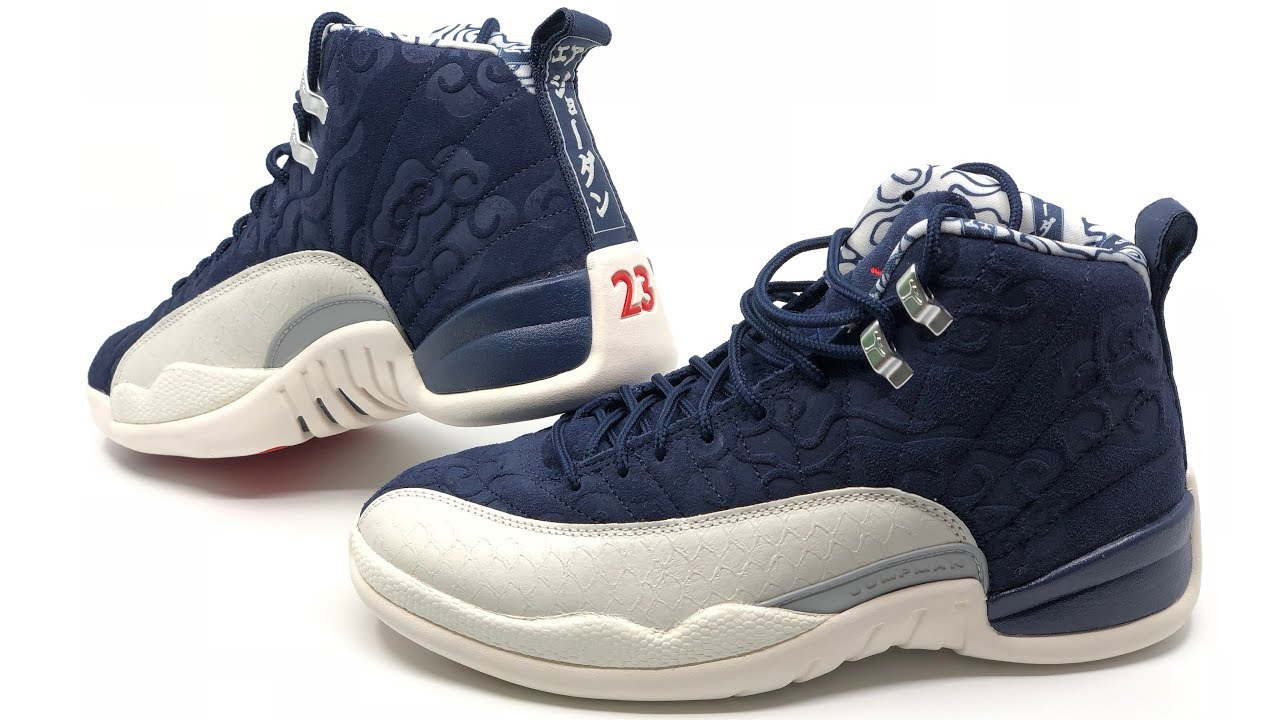 d6b9c6f67ae442 Air Jordan 12 Retro PRM International Flight 🇯🇵 (College Navy Univesity  Red) (Dreams Version) 4K