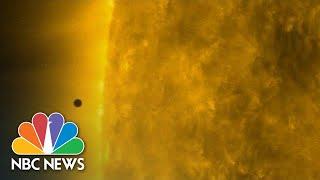 Watch Mercury Make Rare Transit Between Earth And The Sun | NBC News