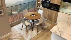 Mesas redondas extensibles de cocina o comedor - YouTube