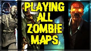 playing all waw bo1 bo2 bo3 zombie maps black ops zombies pc