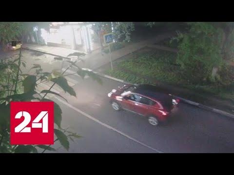 Невероятный угон машины Химках: ВИДЕО - Россия 24