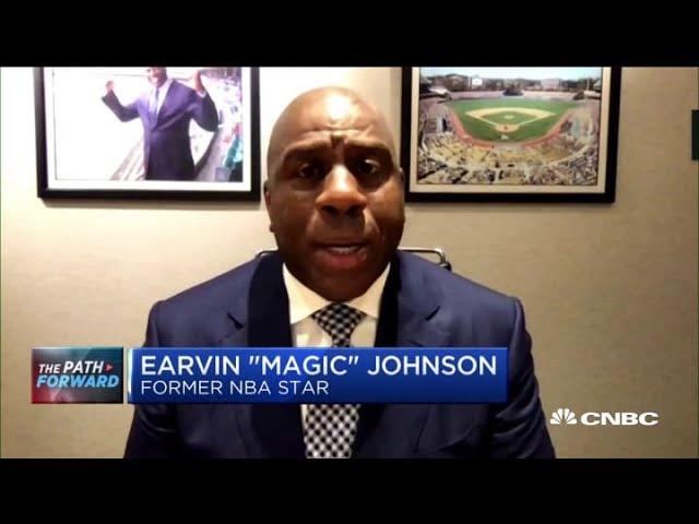 LA Lakers legend Magic Johnson on the team's decision to return PPP loan