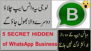 5 SECRET HIDDEN of WhatsApp Business