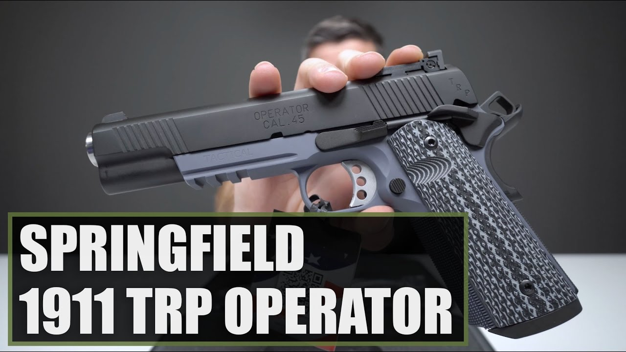 Unboxing The Springfield Armory 1911 TRP Operator 45 ACP Gray