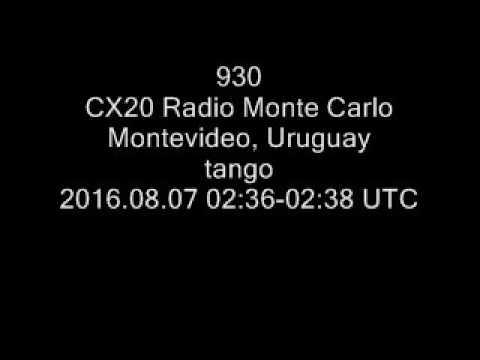 930 CX20 Radio Monte Carlo, Montevideo, Uruguay