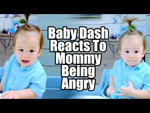 Baby Dash Reacts To Mommy Being Angry (1yr 4m)