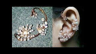 dandelion ear cuff - Copper flower jewelry 275