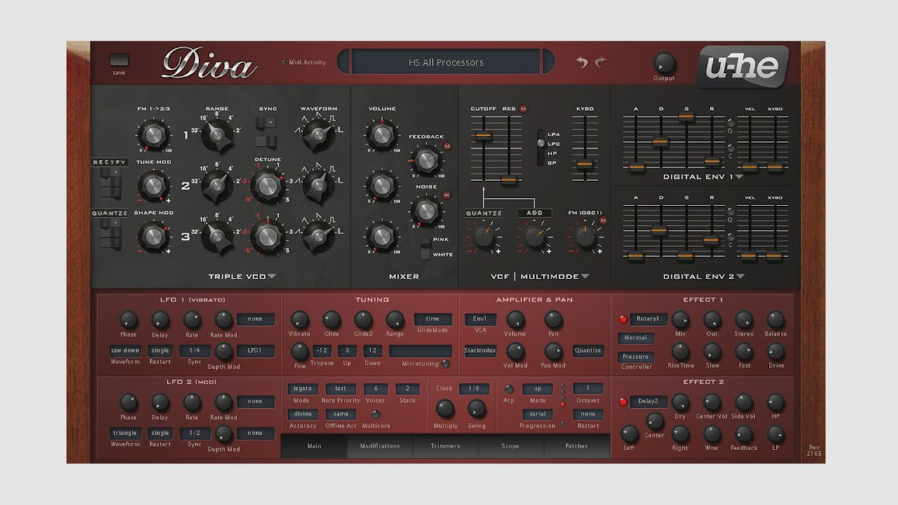 U he diva virtual analog synthesizer plug in demo by - U he diva ...