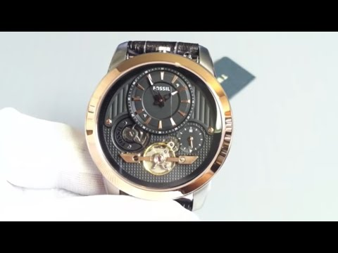 81c075735 Men's Fossil Grant Twist Automatic Watch ME1125 - YouTube