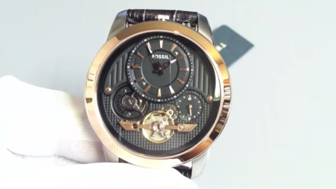 4aec47467323 Men s Fossil Grant Twist Automatic Watch ME1125 - YouTube