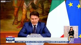La conferenza stampa del premier giuseppe conte di oggi venerdi 10 aprile 2020, in diretta vg 21 canale 21follow su twitter https://twitter.com/canale21f...