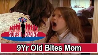 9Yr Old Bites Mum For Taking Her Phone! | Supernanny UK
