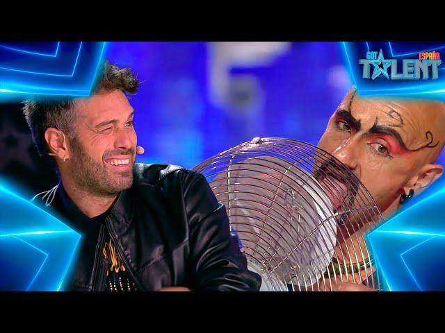 Este FAKIR mete SU LENGUA en un VENTILADOR   Audiciones 3   Got Talent España 7 (2021)