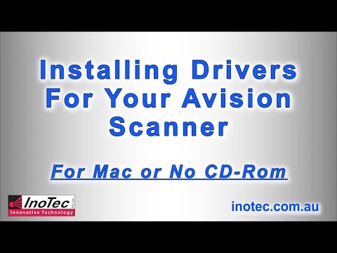 Installing Drivers & Connecting Your Avision Scanner - Mac Or No CD-ROM