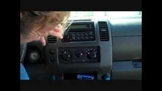 How to Nissan Frontier Bose car Stereo radio  Removal 2005 - 2012 replace