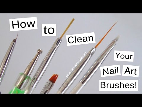 How To Clean Your Nail Art Brushes!