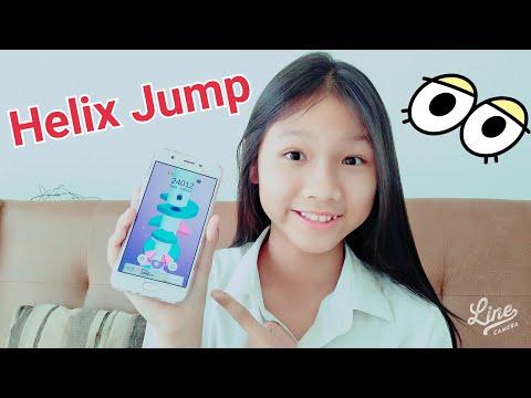 พี่เคทเล่นเกมส์ Helix Jump