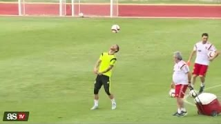 Sergio Ramos skills in training